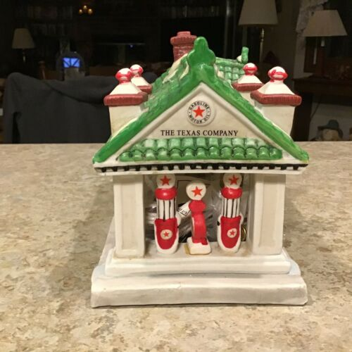 Vintage # Texaco Town Filling Station- Limited Edition Christmas Porcelain 1995