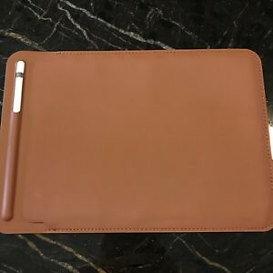 Saddle brown sleeve for Apple iPad and Apple Pencil