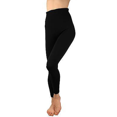 Leggings - Ladies Winter Fleece LIned High Waist Warm Thermal Leggings Stretchy Ski Black