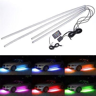 7 Color 5050 LED Underbody Under Car Lights Kit + Remote + Sound Activate (Underbody Led Kits)
