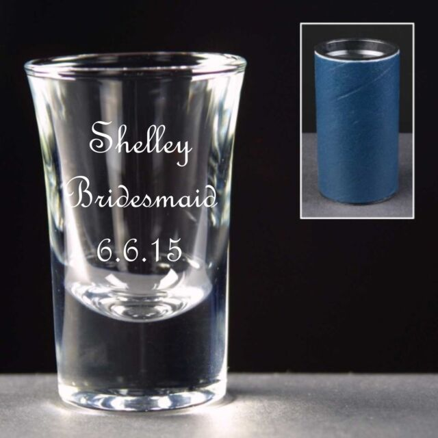 Personalised Shot Glass,Wedding Favour,  Bridesmaid Gift