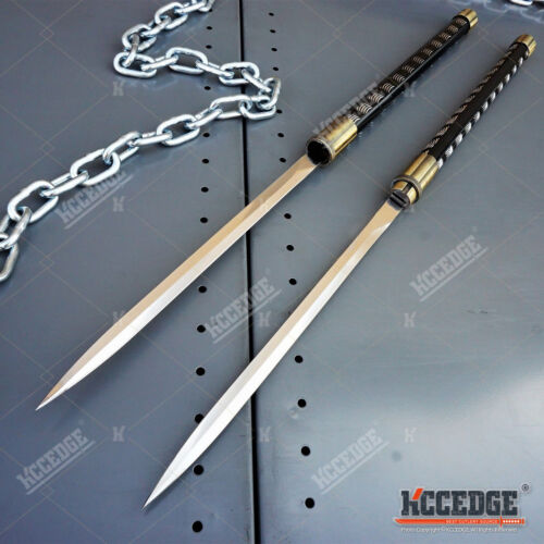 "2 IN 1 TWIN BLADES 33"" Samurai Ninja KATANA DUAL SWORD SET Interlocking Japanese"