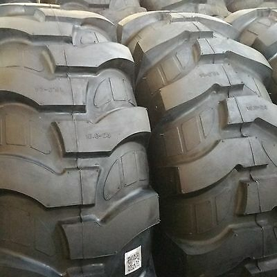 16.9-24 2-tires 12 Ply R4 Rear Backhoe Tractor Tires 16.9x24 16924
