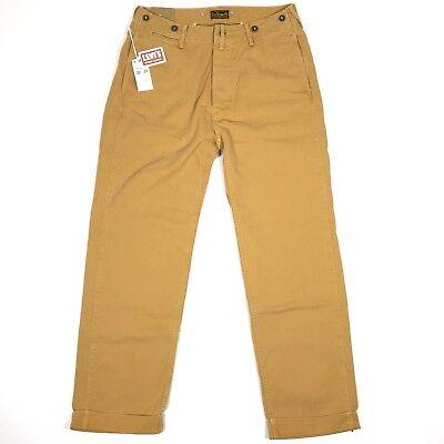 Levis Vintage Clothing 1920s Cotton Twill Chino Pants Size 32x31 Tan LVC $240 - Male Hippie Clothes