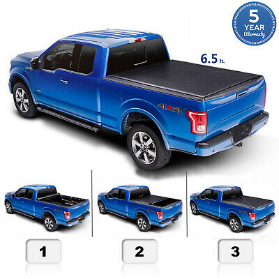 "6.5 FT/76.3"" For 2009-2018 Dodge Ram 1500 Roll Up Pickup Truck Bed Tonneau Cover"