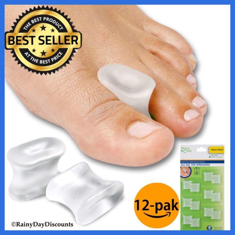 Toe Separators Gel Toe Spacers Straighten Toes Relief Foot Bunion Pain 12 PACK
