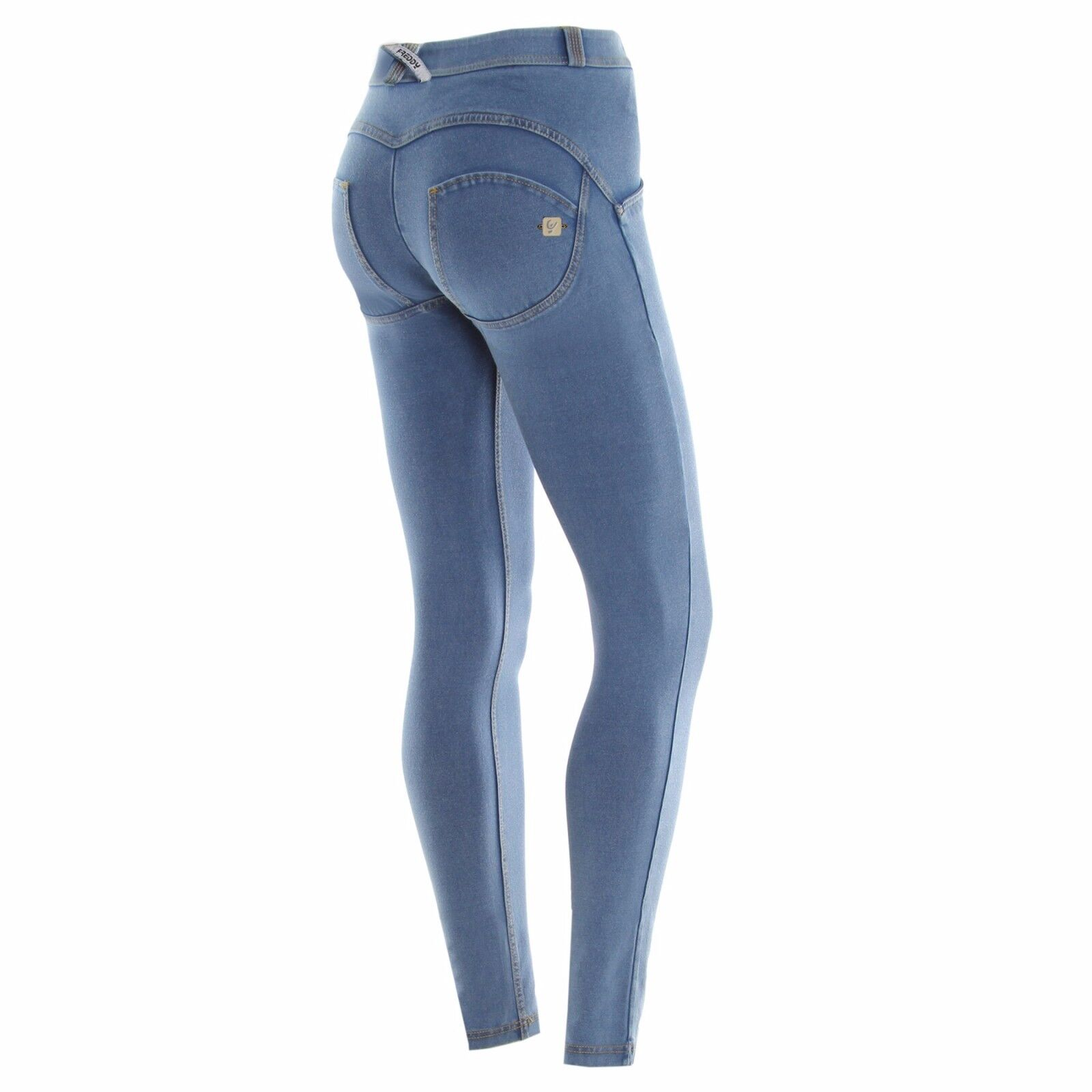 FREDDY WR.UP JEANS CHIARO + BODY OMAGGIO S M L PANTALONI PUSH UP WRUP1PRA01E