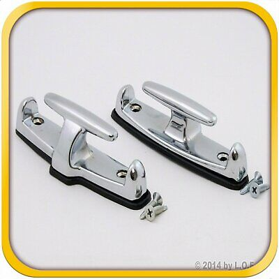 2 T Hook Tie Down Rope Kit Anchor Point Boat Truck Trailer Set Pair -