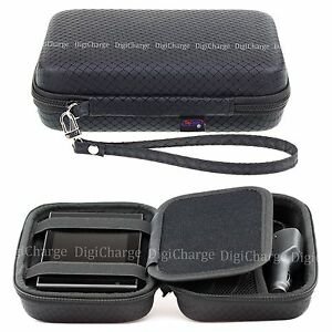 Black Hard Carry Case For Garmin Nuvi 57LM 58LM 5'' GPS Sat Nav With Storage