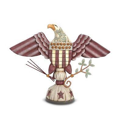 Jim Shore Patriotic Eagle W/ Arrows Branch River's End