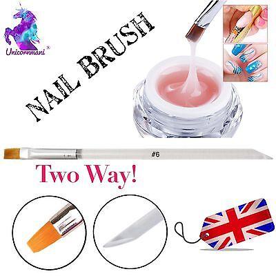6mm Acrylic UV Hard Gel Nail Art Design Polish Painting Brush Manicure Tool UK