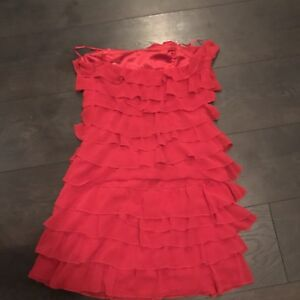 Guess  bustier ruffle red dress size 3
