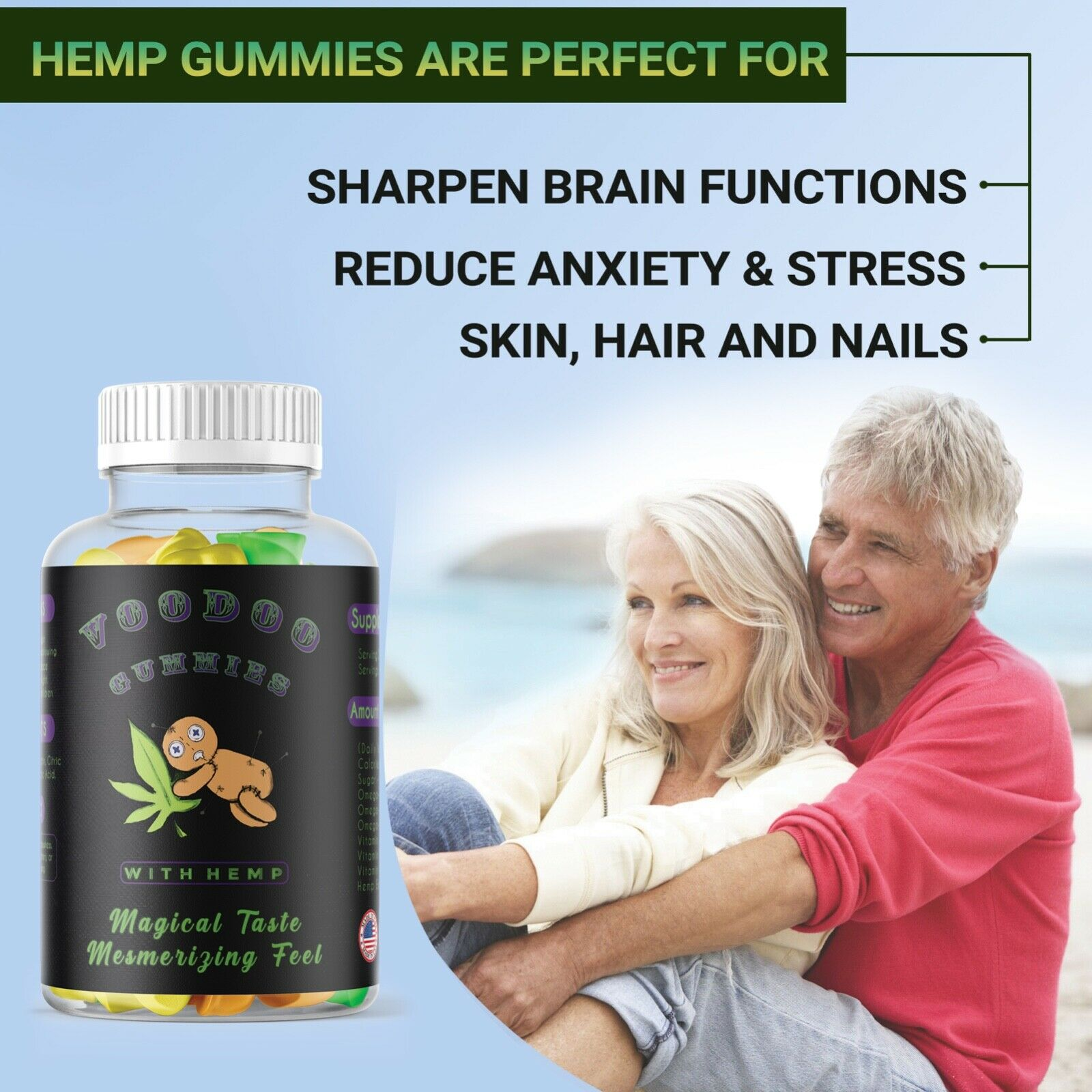 Premium Natural HempOil Gummies 6000mg For Stress Relaxation Pain Anxiety 2