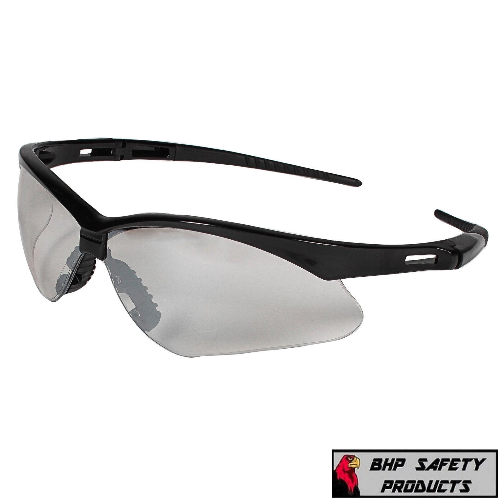 JACKSON NEMESIS SAFETY GLASSES SUNGLASSES SPORT WORK EYEWEAR ANSI Z87 COMPLIANT 25685- Black Frame/I-O Mirror Lens