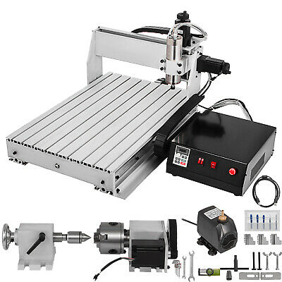 4 Axis Cnc Router 6040 24000rpm 3d Woodworking Milling 4th Rotary Axis Tailstock