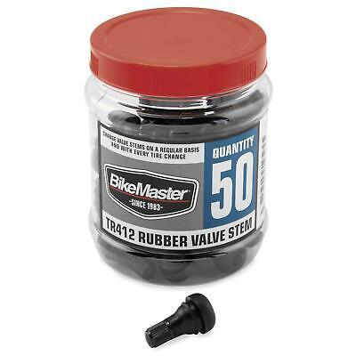 BIKEMASTER RUBBER VALVE STEMS BLACK 03-36A-50