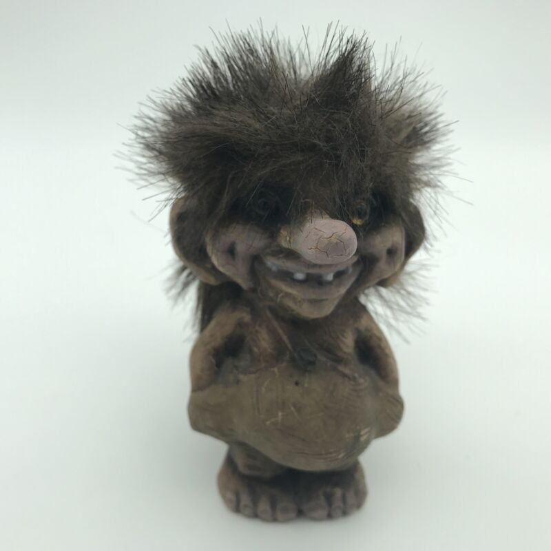 """Ny Form 4"""" Troll Figurine 18 Norwegian Long Nose, Free Shipping!"""