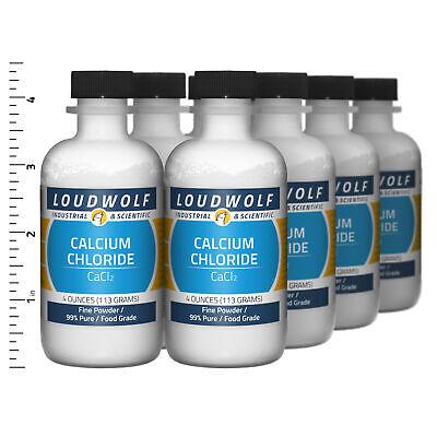 Calcium Chloride 2 Lb Total 8 Bottles Food Grade Fine Powder Usa Seller