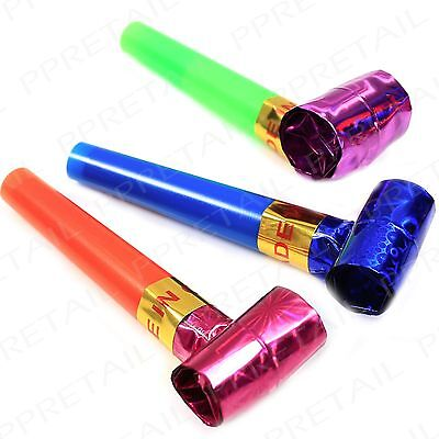 20 Party Blowers MIXED COLOURS Christmas Birthday New Year Noise Loot Bag Toys