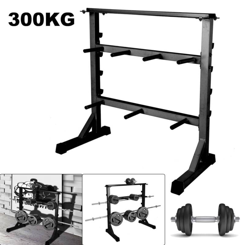 Hantelablage Hantelständer Hantelscheibenständer 3 Ebenen bis 300 kg aus Stahl
