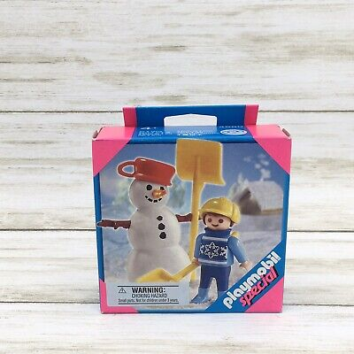 2007 Playmobil Special Snowman Child Boy #4680 Building Toy