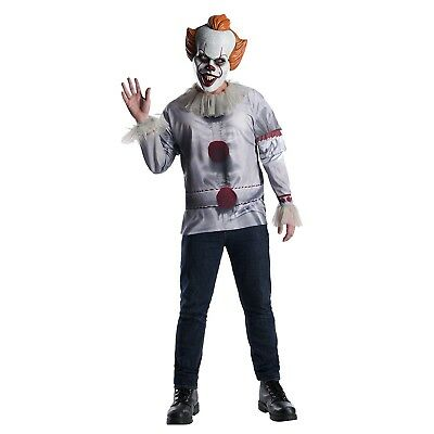 Adult Mens IT Pennywise Losers Club Clown Mask Shirt Halloween Costume STD XL