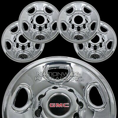 "4 CHROME Savana Van 16"" 8 Lug Wheel Skins Hub Caps Rim Simulators Center Covers"