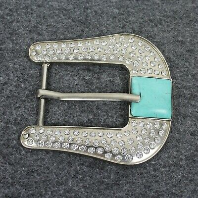 Western Womans Turquoise Bling Cowgirl Belt Buckle  ()