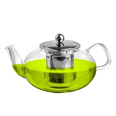 Clear Glass Teapot with Infuser for Loose Leaf Tea - 800ml -