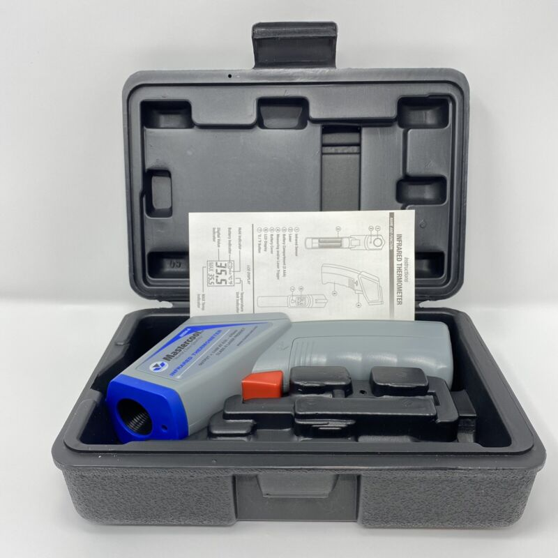 MASTERCOOL 52224-A-SP Gray Infrared Thermometer with Laser Case TESTED READ