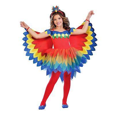 Kids Girls Rainbow Pretty Parrot Fairy Bird Animal Wild Fancy Dress Book - Rainbow Fairy Costume