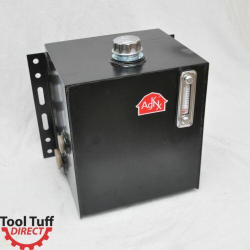Tool-Tuff 15-Gallon Hydraulic Fluid Reservoir Tank, Side Vertical-Mount, w/Temp