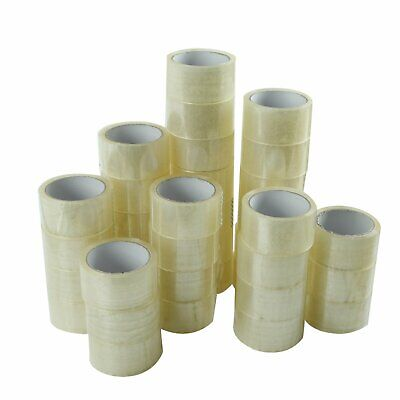 36 ROLLS - 2 INCH x 55 Yards (165 ft) Clear Carton Sealing Packing Package Tape