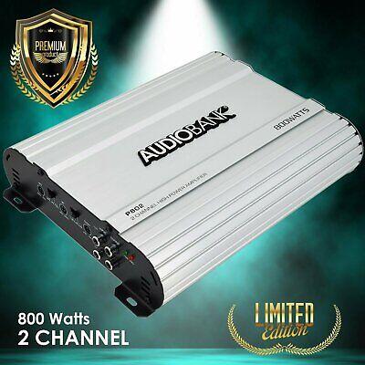 Audiobank 2 Channels 800 WATTS Bridgedable Car Audio Stereo Amplifier P802
