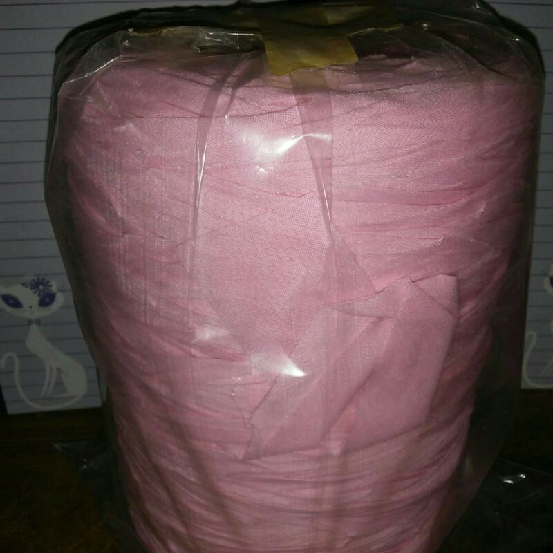 Rag Yarn Precut Fabric Strips Pink 29oz
