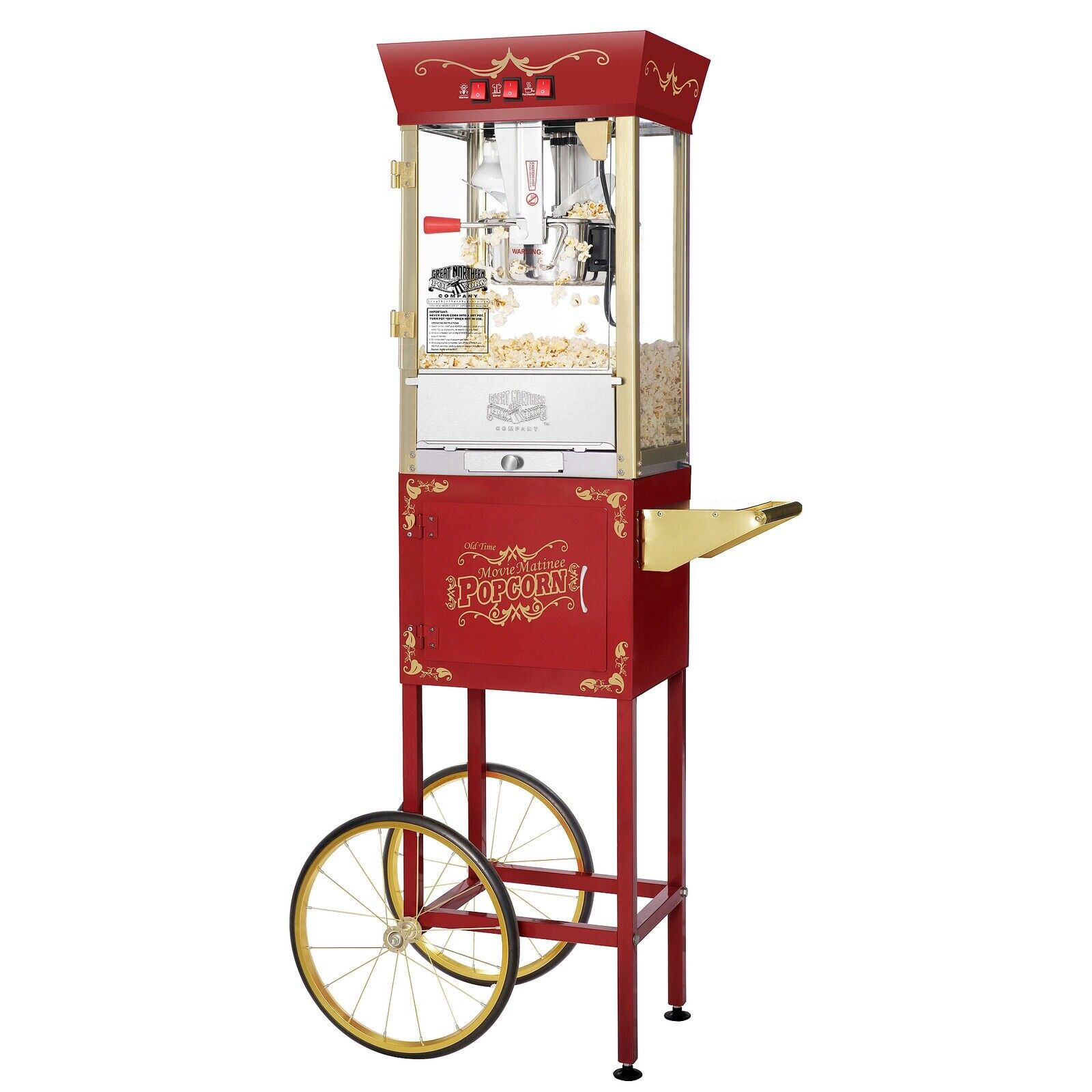 Great Northern Popcorn Red Matinee Style Popcorn Popper with