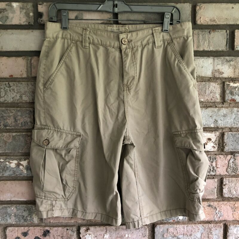 """Boy's Lucky Brand Cotton Cargo Shorts Beige Size 18 10"""" Inseam"""