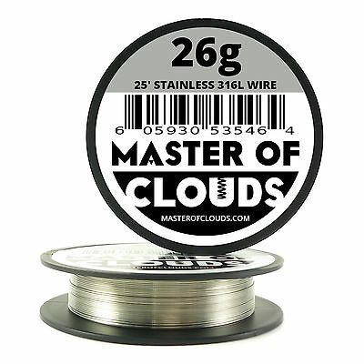 Ss 316l - 25 Ft. 26 Gauge Awg Stainless Steel Resistance Wire 0.40 Mm 26g 25