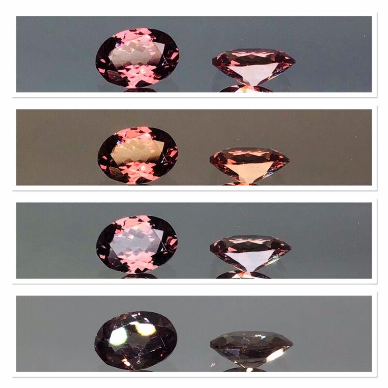 Colour Change Bekily Garnet Exceptionally Rare Untreated Gemstone 1.90 Carat Set