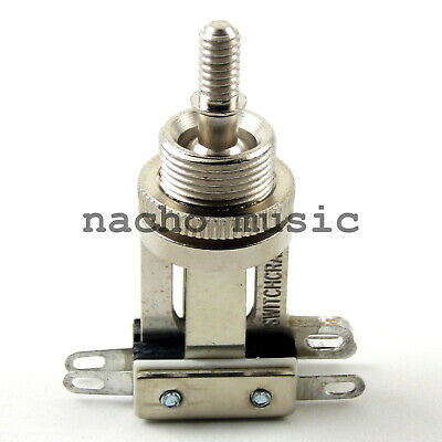 Prewired 3 Way US Switchcraft Switch Short fits Gibson® and others