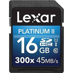 Lexar-SDHC-16GB-Platinum-II-Clase-10-300X-45MB-s-Tarjeta-de-memoria-flash-ct-ES