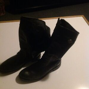 Harley Davidson Leather boots women size 10 - bottes moto cuir
