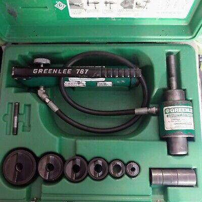 Greenlee 7306sb 12- 2 Slugbuster Hydraulic Knockout Pump Punch Driver Set