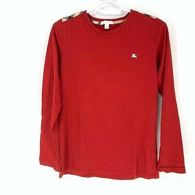 Burberry Children Boys red nova check long sleeve shirt 14 *see description*