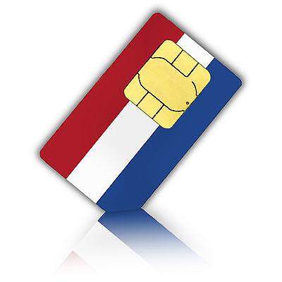 SIM Karte für Niederlande (Holland) mit 1 GB Datenvolumen (Standard/Micro)