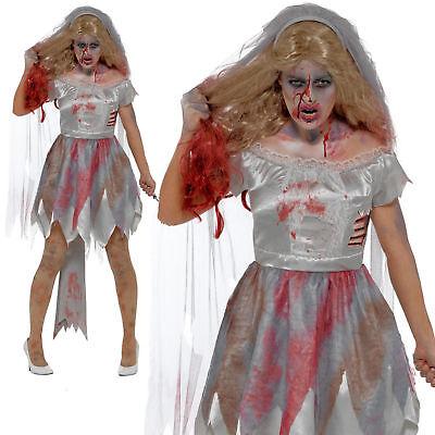 mbie Braut Mode Halloween Horror Damen Modischer Kleid Neu (Cher Kostüm Halloween)