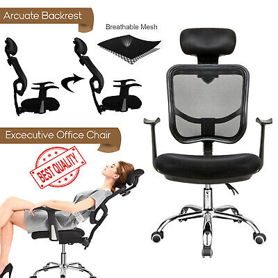 Executive High Back Computer Office Mesh Chair Swivel Adjustable Recliner Lift