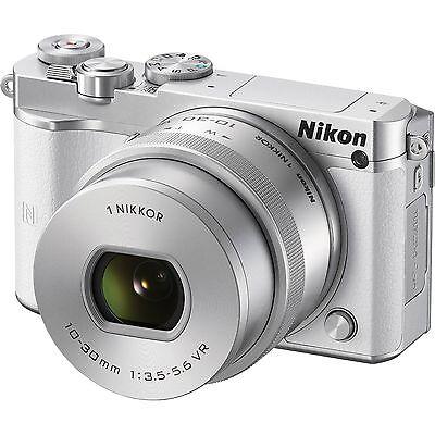 New Nikon 1 J5 Mirrorless Digital Camera with 10-30mm Lens - White