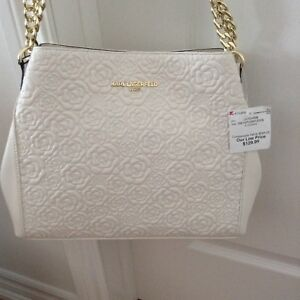 New with tag Karl Lagerfeld white leather bag