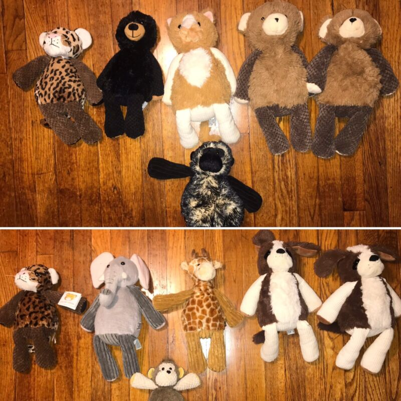 Lot of 12 Scentsy Buddys Plush Bear, Ape, Giraffe, Elephant, Cheetah, Dog, Cat